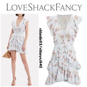 LoveShackFancy India Ruffle Mini Dress L